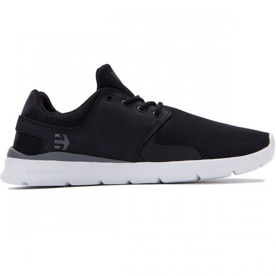 Etnies Scout XT Shoes - Black/White/Grey - 8.0