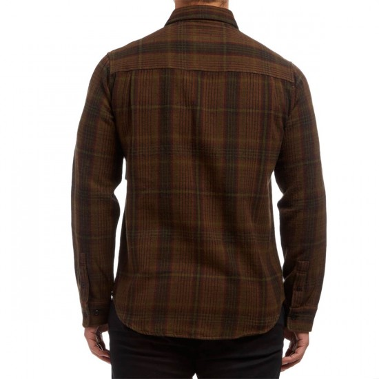 Altamont Binary Flannel Shirt - Tobacco
