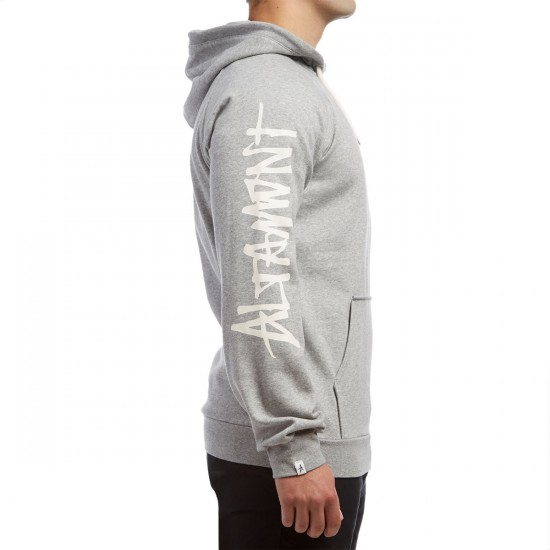 Altamont Zero Six Pullover Fleece Hoodie - Grey Heather