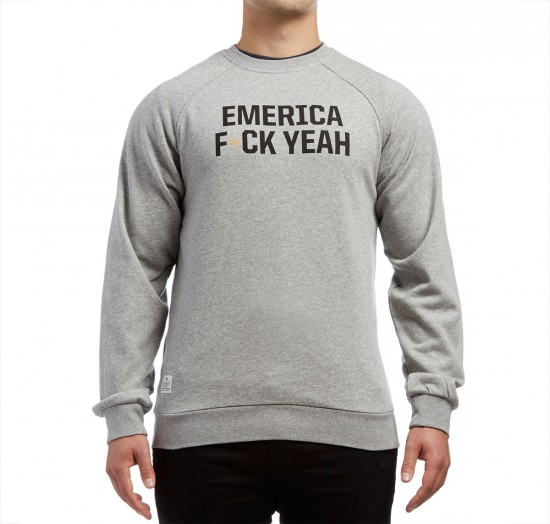 Emerica F Yeah Crew Fleece Sweatshirt - Grey/Heather