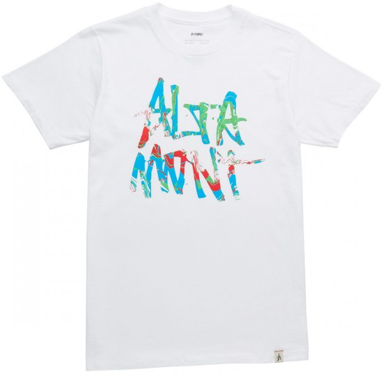 Altamont New Stacked T-Shirt - White/Green