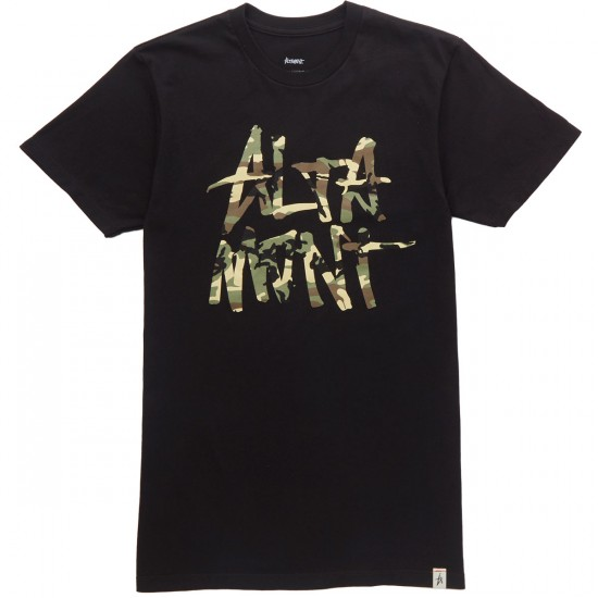 Altamont New Stacked T-Shirt - Black/Camo