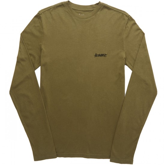 Altamont One Liner Embroidery Long Sleeve T-Shirt - Military
