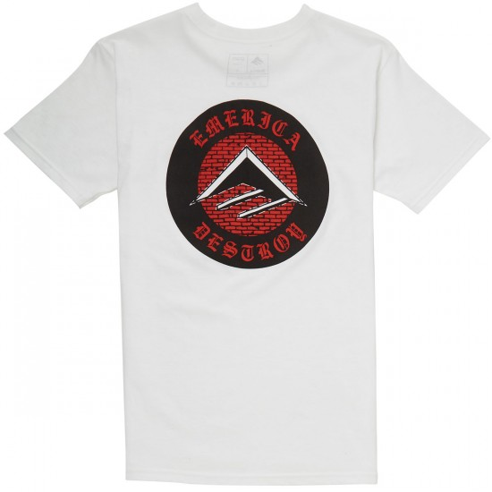 Emerica Bevelled Pocket T-Shirt - White