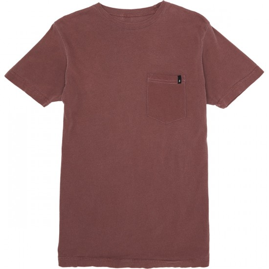 Altamont Essential Pocket Crew T-Shirt - Oxblood