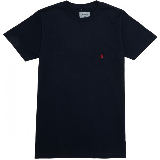 Altamont Micro Embroidery T-Shirt - Navy/Red