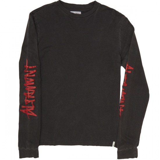 Altamont One Liner Sleeves Long Sleeve T-Shirt - Black