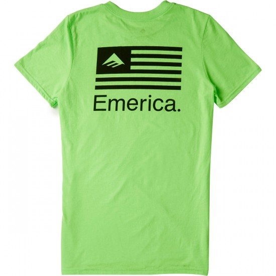 Emerica Pure Flag T-Shirt - Neon