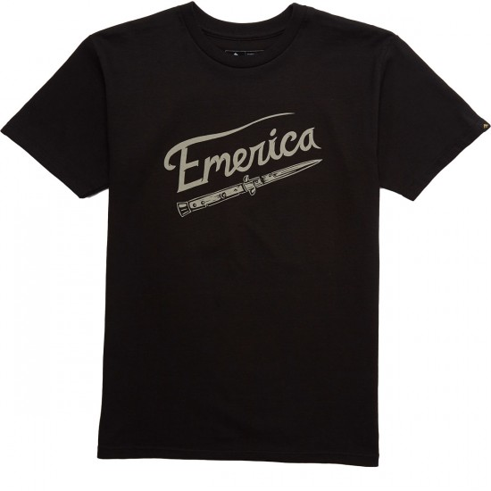 Emerica Switchblade Script T-Shirt - Black