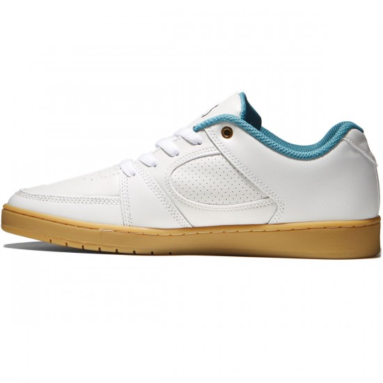 eS Accel Slim Shoes - White/Gum - 8.0