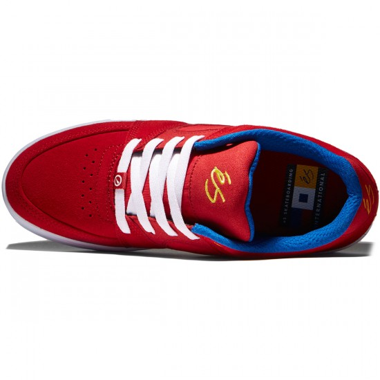 eS Accel Slim Shoes - Red/Blue/White - 8.0