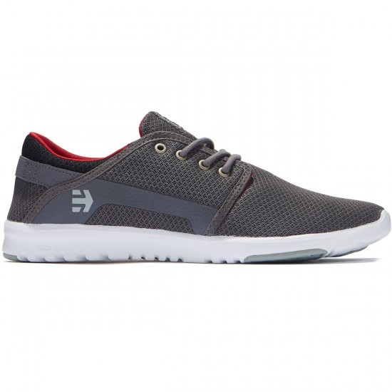 Etnies Scout Shoes - Grey/Black/Red - 8.0