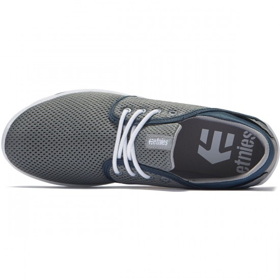 Etnies Scout Shoes - Grey/White/Green - 8.0