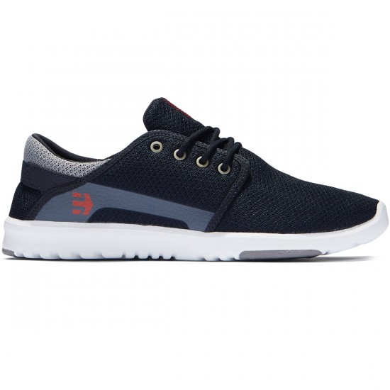 Etnies Scout Shoes - Navy/Grey/Red - 8.0
