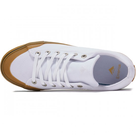 Emerica Indicator Low Shoes - White/Gum - 8.0