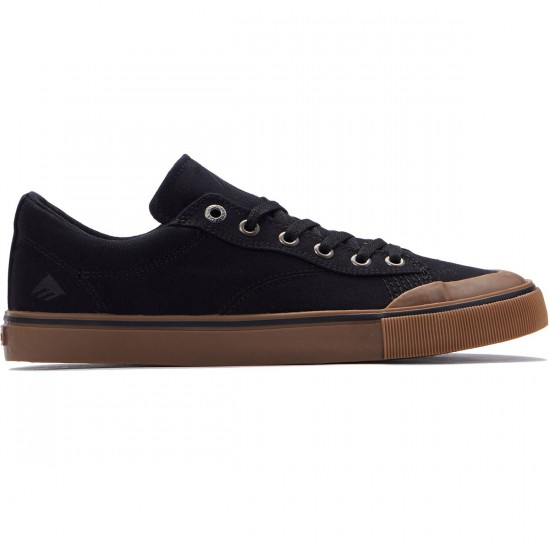 Emerica Indicator Low Shoes - Black/Gum - 7.0
