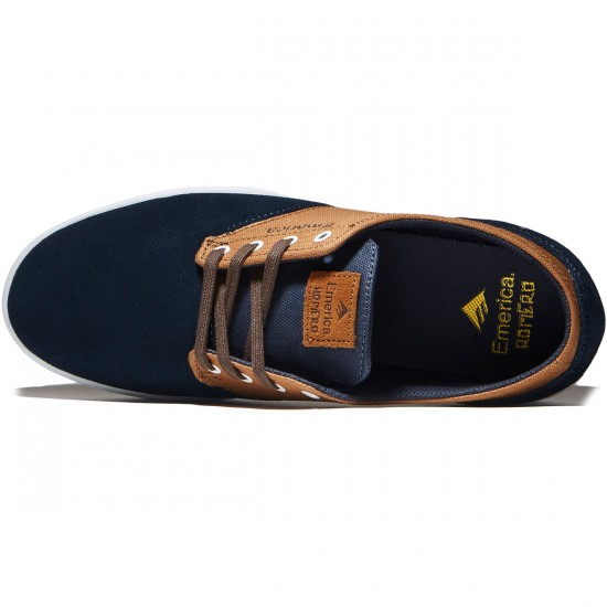 Emerica The Romero Laced Shoes - Navy/Brown/White - 8.0