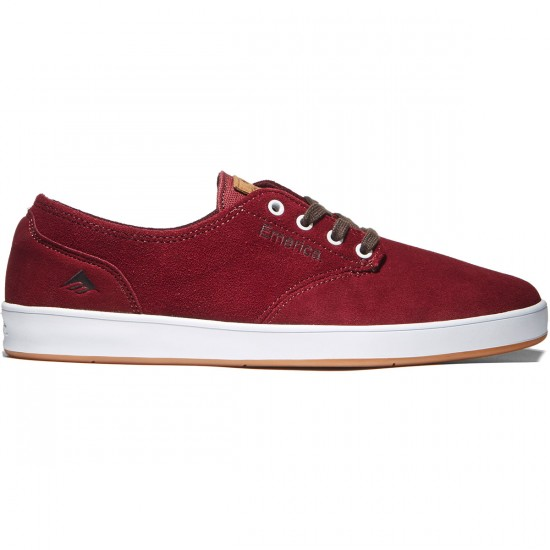 Emerica The Romero Laced Shoes - Burgundy/White - 8.0