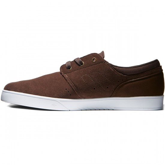 Emerica The Figueroa Shoes - Brown/White/Gum - 8.0