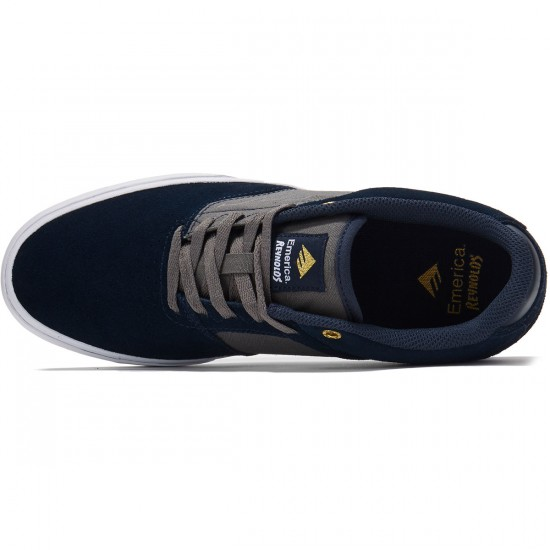 Emerica The Reynolds Low Vulc Shoes - Navy/Grey - 8.0