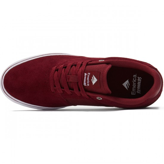 Emerica The Reynolds Low Vulc Shoes - Red/White/Gum - 8.0