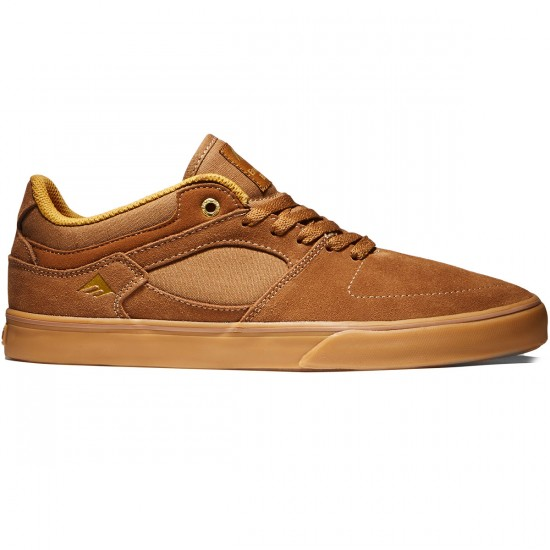 Emerica The Hsu Low Vulc Shoes - Brown/Gum - 8.0