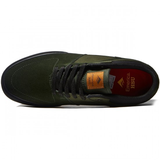 Emerica The Hsu Low Vulc Shoes - Green/Black - 8.0