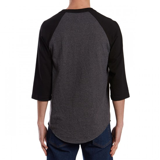Emerica Skateboard Raglan Shirt - Black/Charcoal