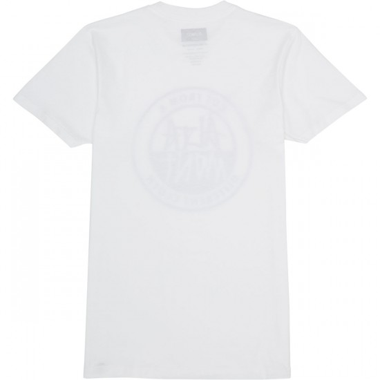 Altamont Contrast Stacked T-Shirt - White
