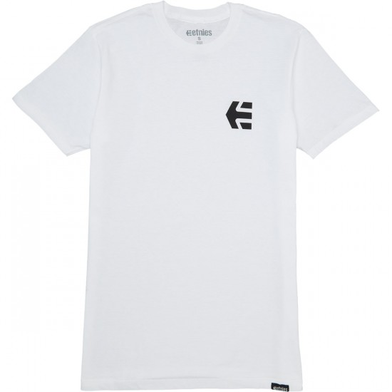 Etnies Mini Icon T-Shirt - White/Black