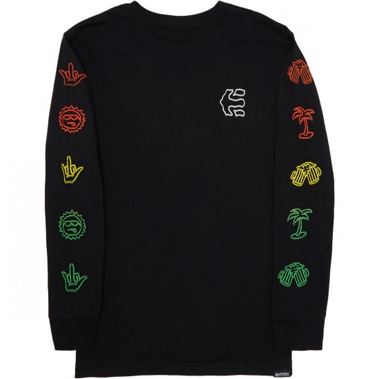 Etnies Good Times Longsleeve T-Shirt - Black