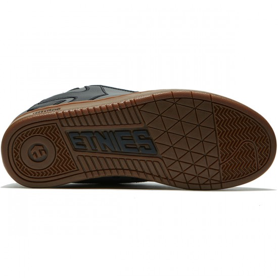 Etnies Fader Shoes - Dark Grey/Black/Gold - 8.0