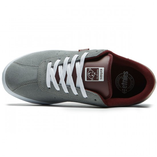 Etnies The Scam Shoes - Grey/Burgundy - 8.0