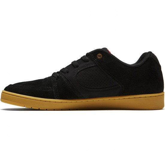 eS Accel Slim Shoes - Black/Gum - 8.0