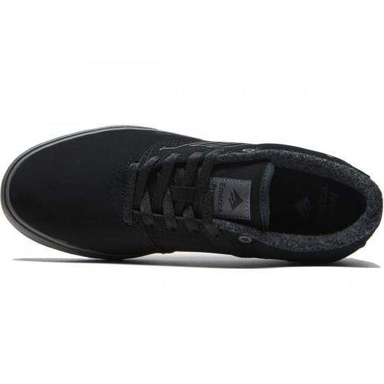 Emerica The Reynolds Low Vulc Shoes - Black/Grey - 8.0