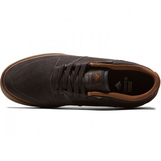 Emerica The Hsu Low Vulc Shoes - Dark Grey - 8.0