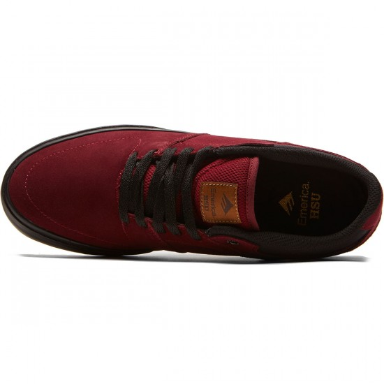 Emerica The Hsu Low Vulc Shoes - Burgundy - 8.0