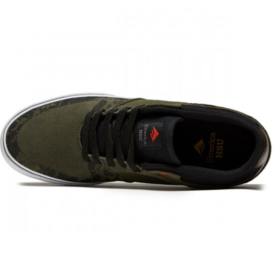 Emerica The Hsu Low Vulc Shoes - Green/Black/White - 8.0