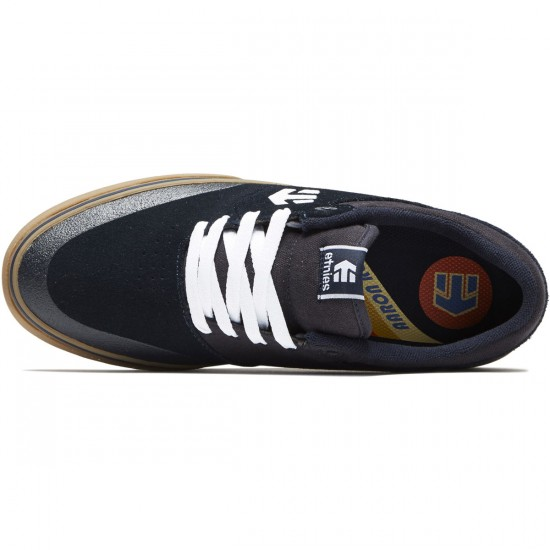 Etnies Marana Vulc Shoes - Navy/White/Gum - 8.5
