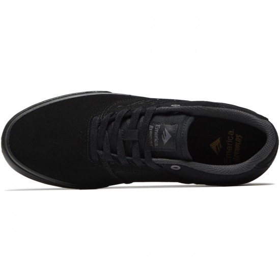 Emerica The Reynolds Low Vulc Shoes - Black/Black/Grey - 8.0