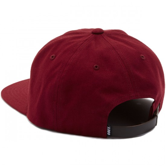 Obey Bunt 6 Panel Hat - Wine