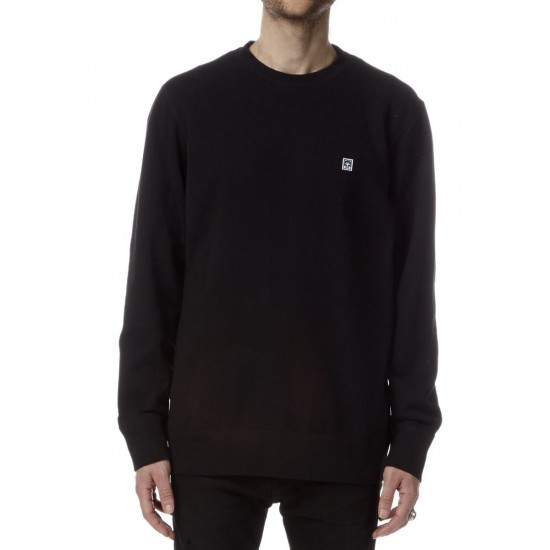 Obey Eighty Nine Icon Fleece Crewneck Sweatshirt - Black