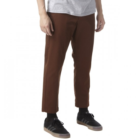 Obey Straggler Flooded Pants - Brown - 30 - 32