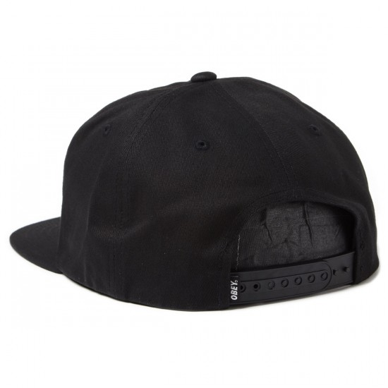 Obey Permanent Vacation Snapback Hat - Black