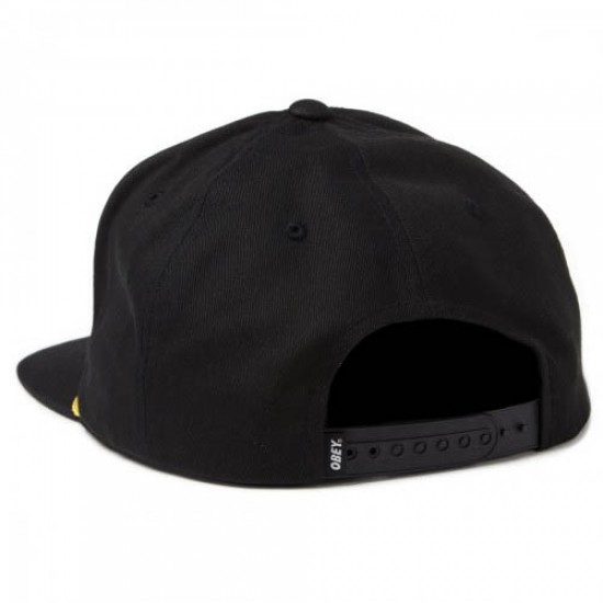 Obey International Snapback Hat - Black