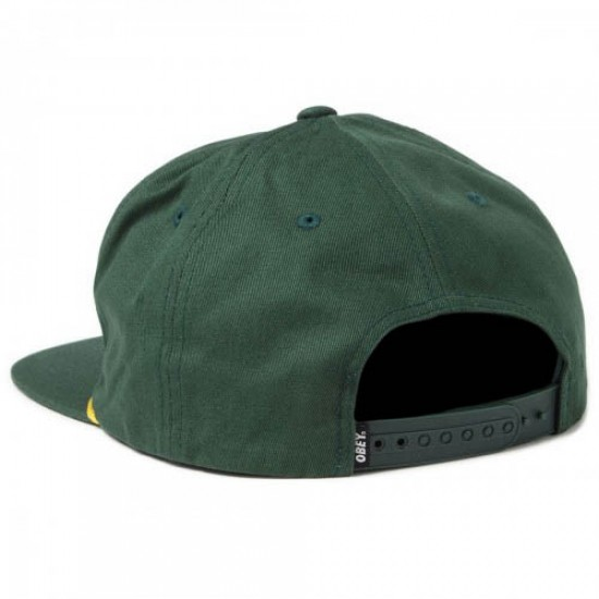 Obey International Snapback Hat - Spruce