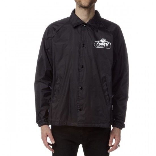 Obey Diablo Coach Jacket - Black