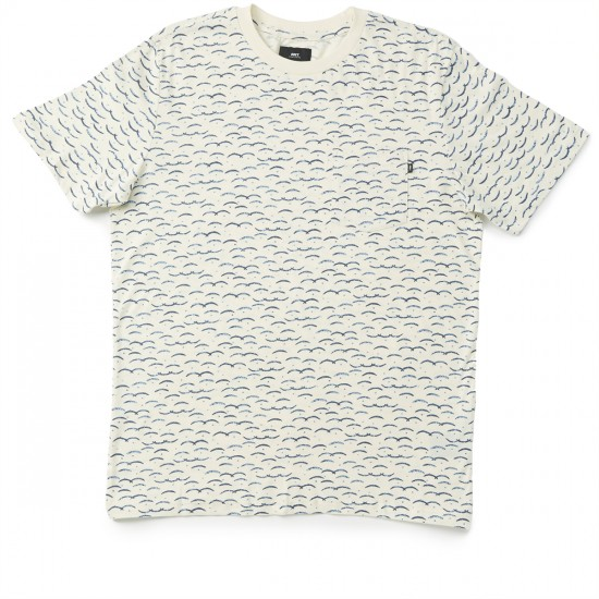 Obey Cliffside Pocket T-shirt - Cream Multi