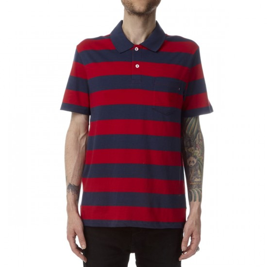 Obey Van Ness Polo Shirt - Red Multi