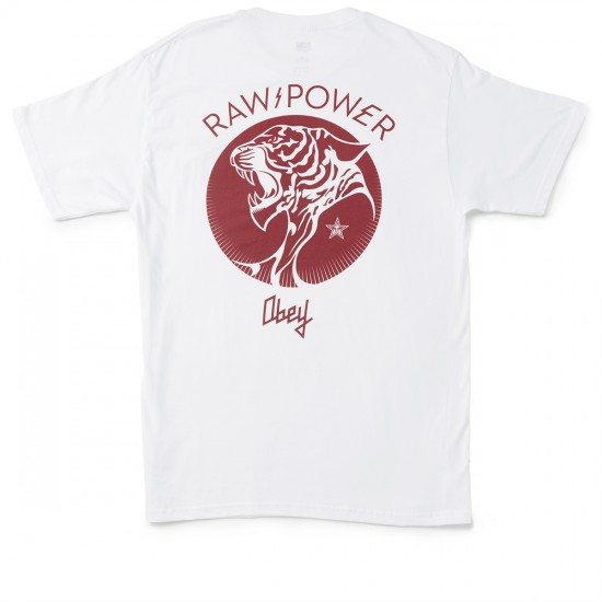 Obey Raw Power Tiger T-shirt - White